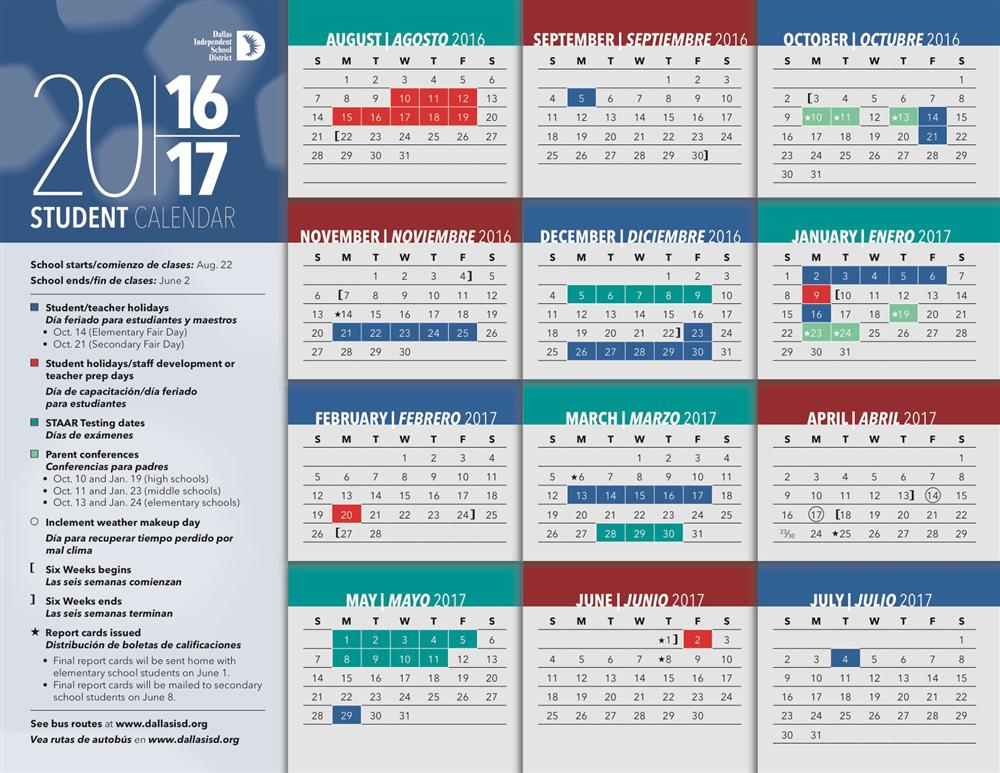 2016 2017 dallas isd calendar dallas independent school district salary schedule
