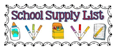 School Supply Drive Clipart