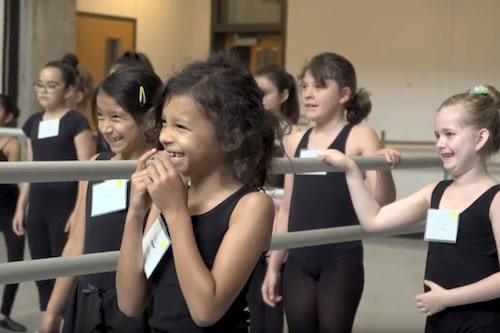 Elementary students from across Dallas ISD improved their dance skills at the camp.