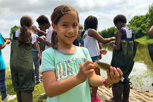 Students are connecting with nature at this summer camp
