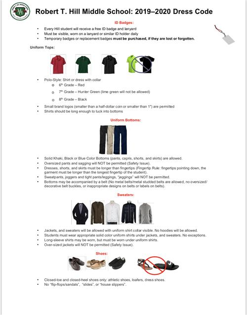 Student Dress Code / Overview
