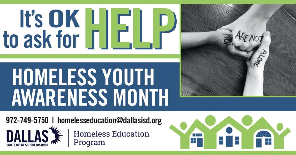 Nov. Homeless Youth Awareness Month