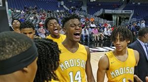 Madison Boys Basketball wins State Semi-Final. Tournament Suspended