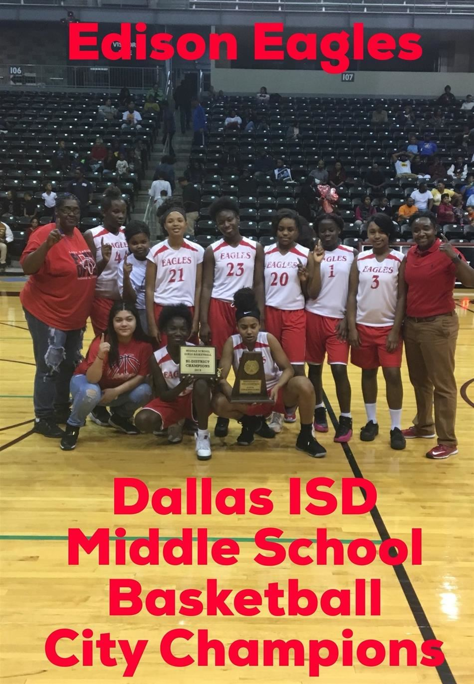 Edison Girls / OW Holmes Boys Win Middle School Basketball City Championships