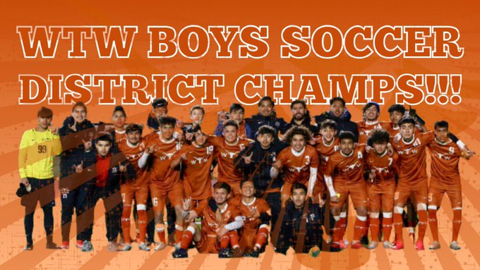 WT White Boys Soccer Wins 8-6A District Championship