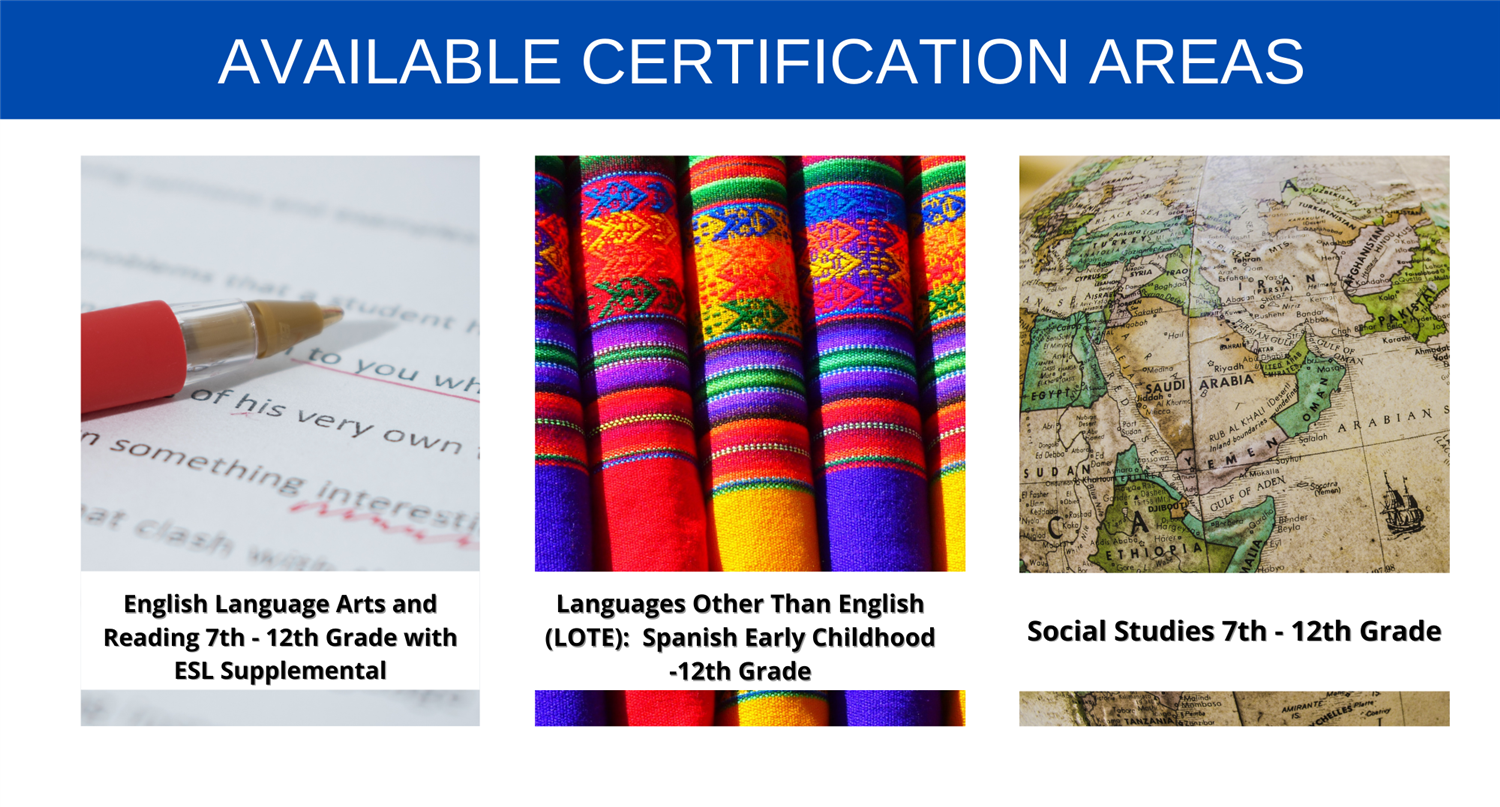 ELAR- LOTE- SS Certification Areas