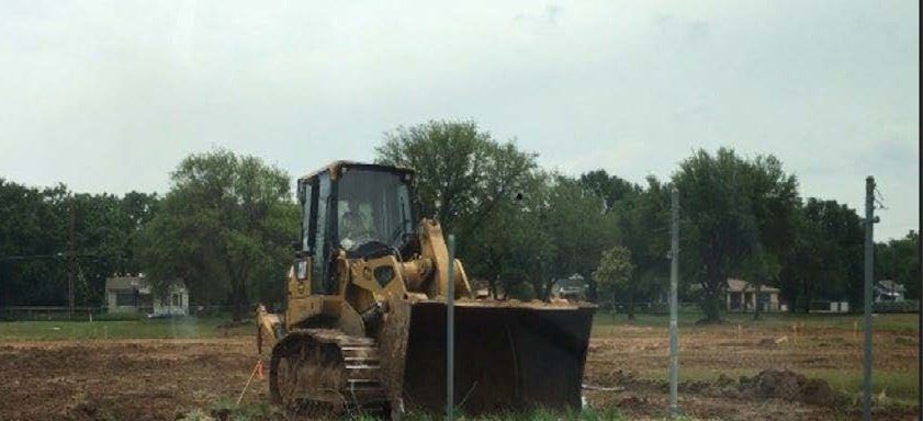 Site Cleared for the new H. S. Thompson Elementary School