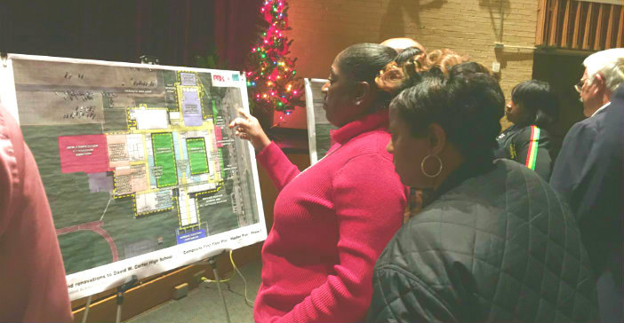 Second community meeting features expanded construction plans for D.W. Carter High School