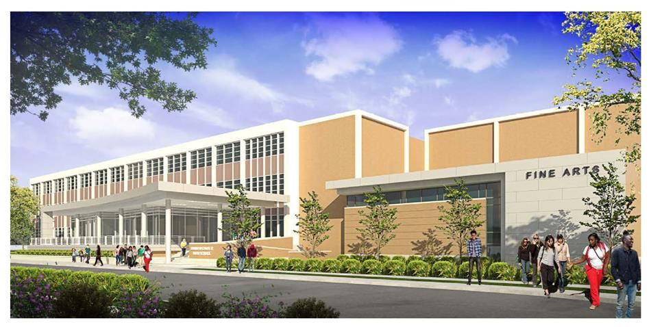 Architect's rendering of the new Carter entryway.