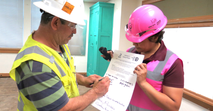 Pledge helps makes worksite safety personal to construction crews
