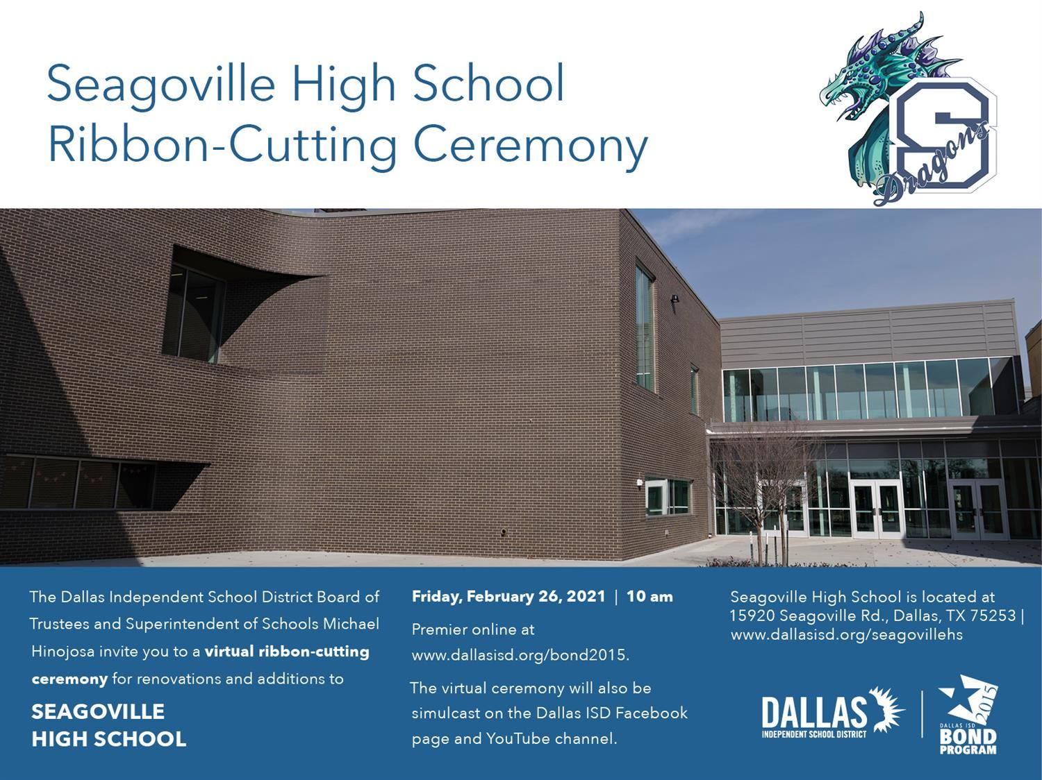 Celebrate Seagoville High School Virtual Ribbon Cutting