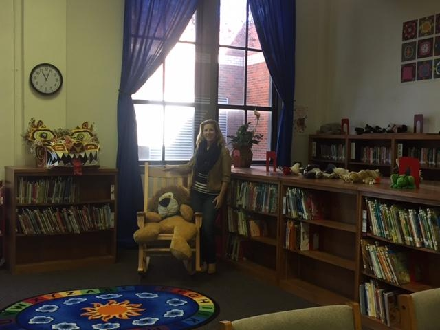 Ms. Sosa in her library