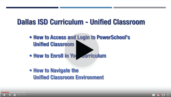 Unified Classroom Tutorials