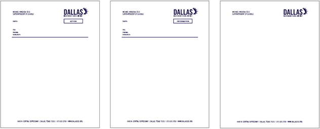 branding and style guide / dallas isd powerpoint, letterhead, and, Presentation templates