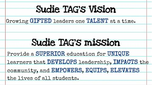 Sudie's Vision & Mission