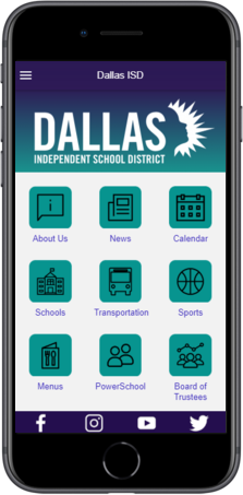 Dallas ISD Mobile App - Phone Image