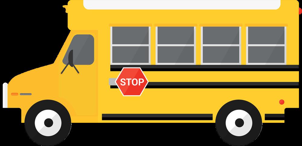 School bus simple. Routes transportation