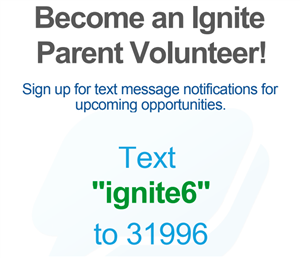Text ignite6 to 31996 to receive PTSA messages