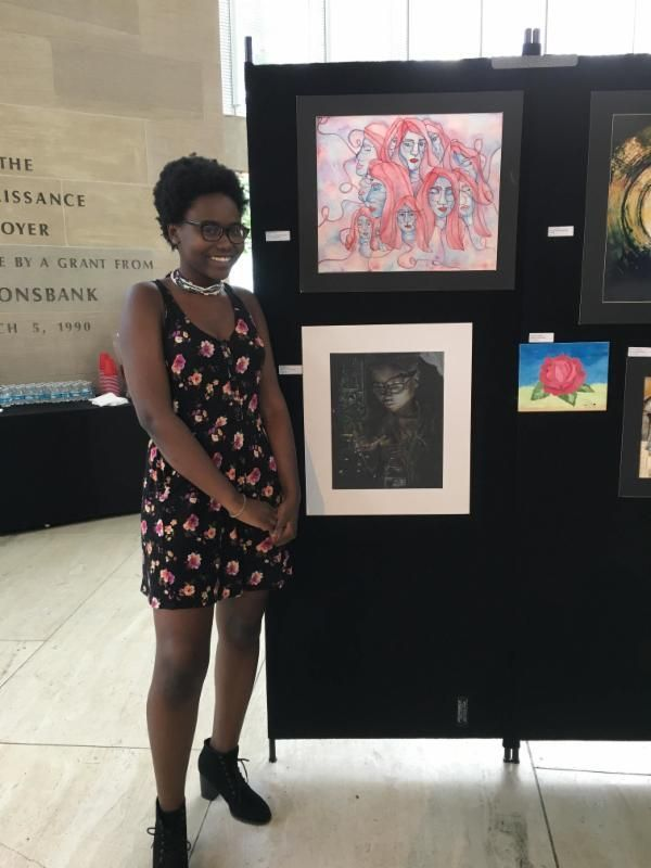Congratulations to Visual Arts Student Aisha Mpiana!