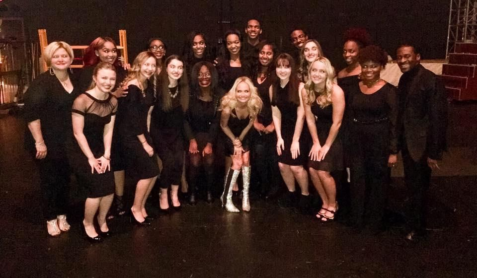 BTW Gospel Choir on Stage with Kristin Chenoweth