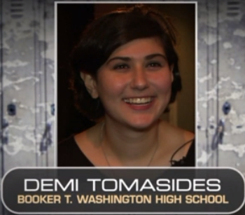 Kudos to Booker T. Senior Demi Tomasides