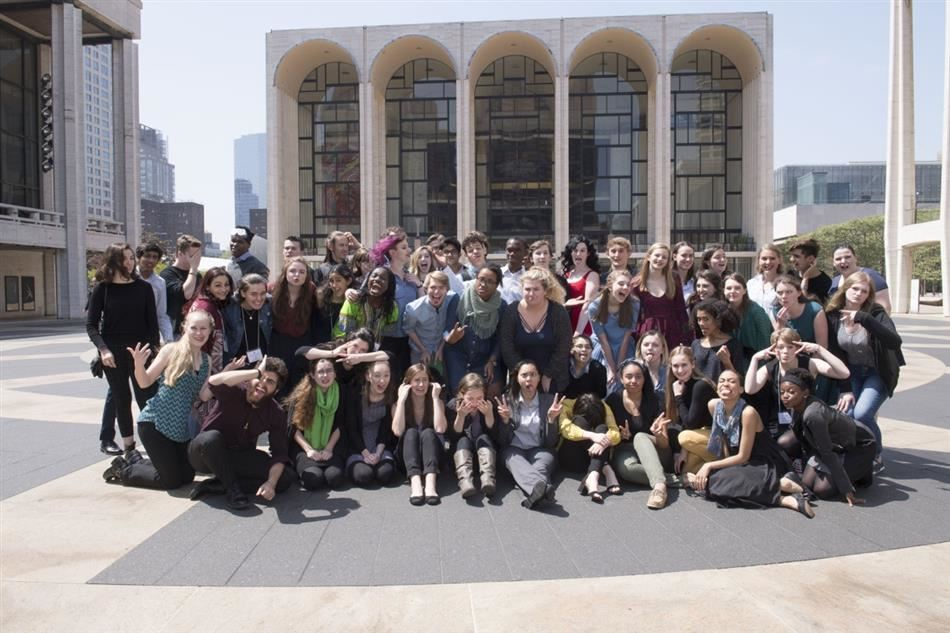 Group Photo in front of New York Public Library