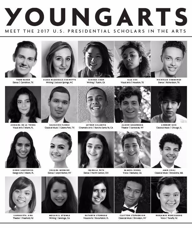 2017 US Presidential Scholars in the Arts