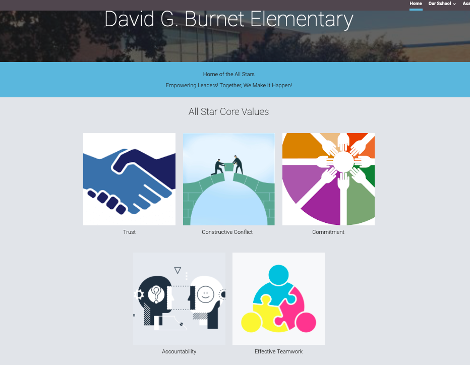 Burnet's Learning From Home Website