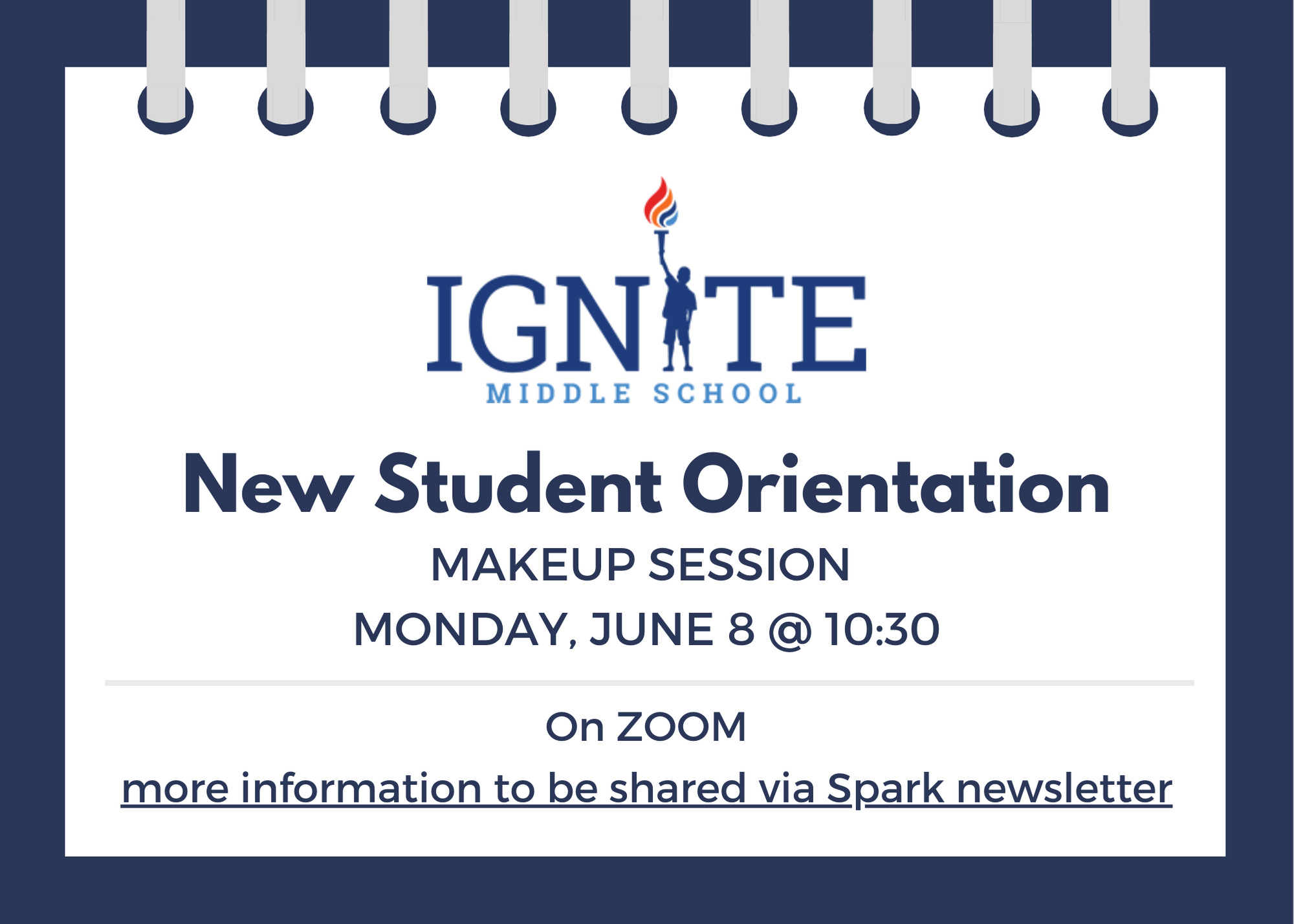 New Student Orientation Makeup DAte