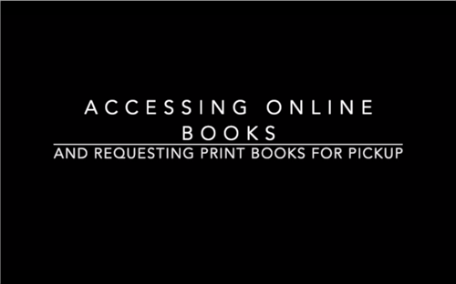 Accessing and Requesting Books