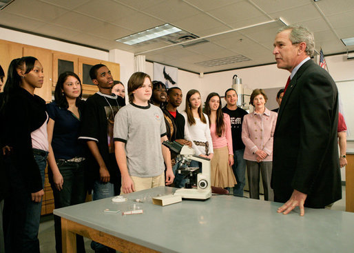 President Visits Science and Engineering High School in Texas