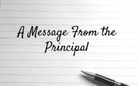Message from Principal Rojas