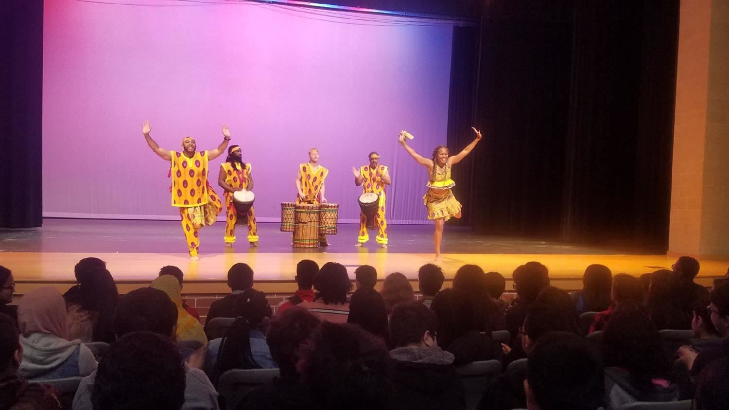 "African Dance Company ""Bandan Koro"" Performs at Conrad High School"