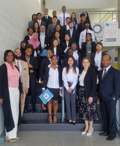 Students of Dr. Emmett J. Conrad High School attended the Mayor's Intern Interview.