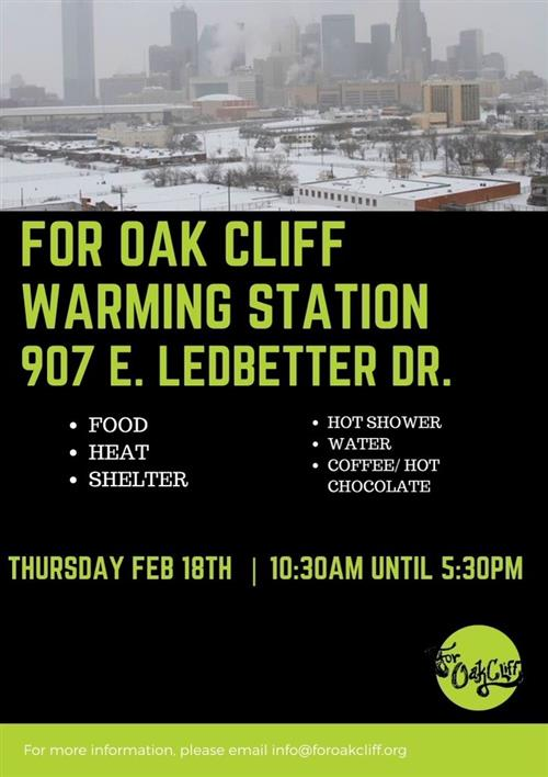 For Oak Cliff Warming Station