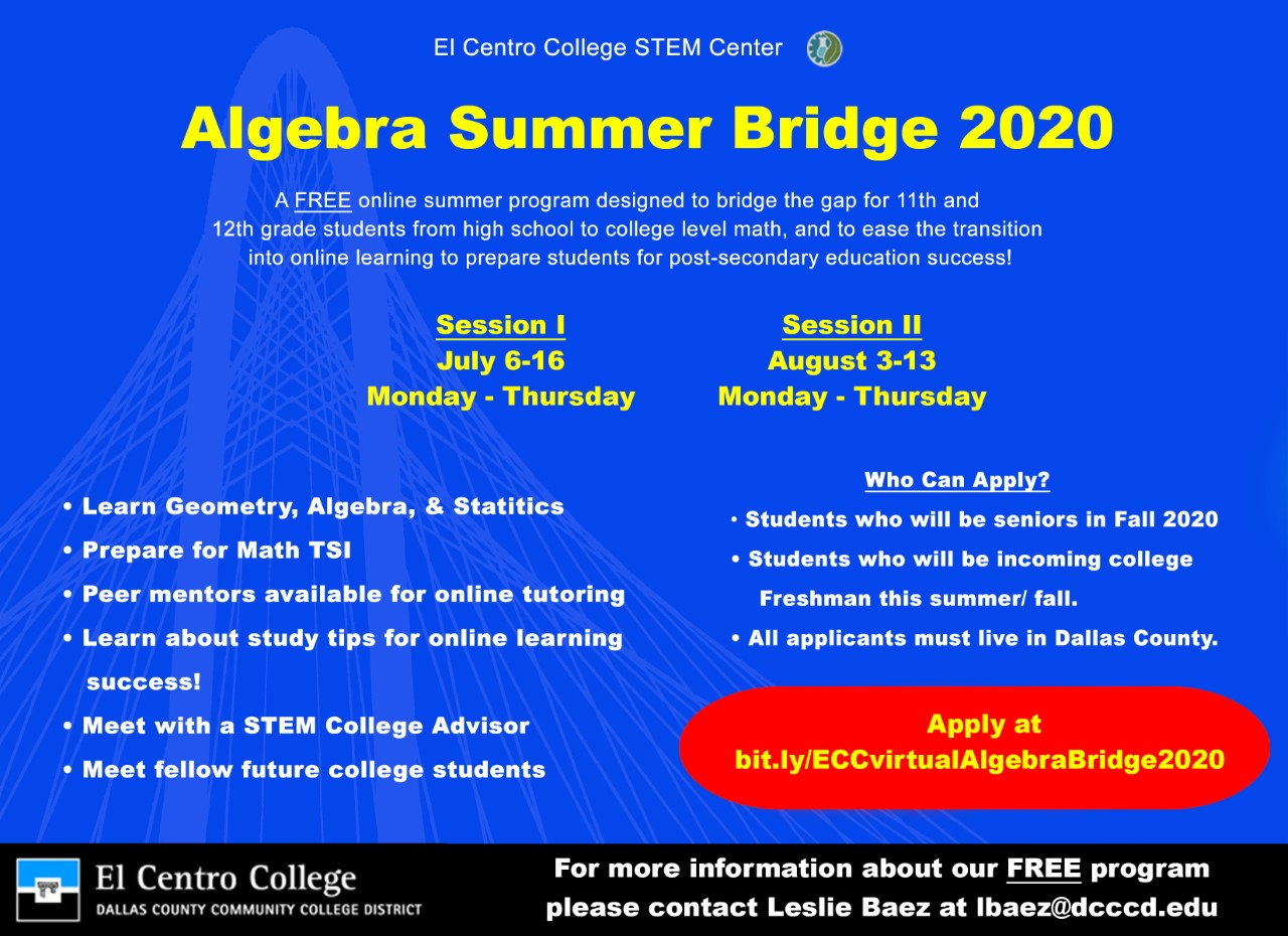 Algebra Summer Bridge 2020