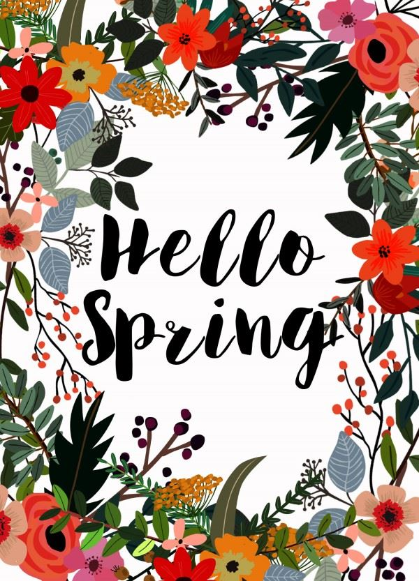 Despite the forecast, live like it's SPRING!