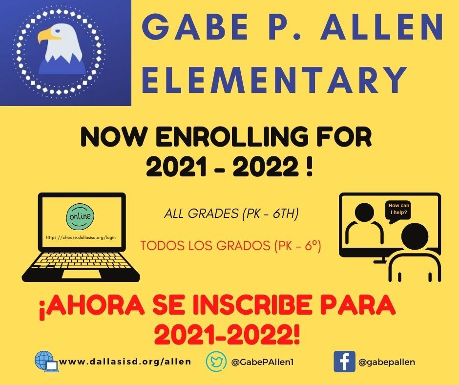 Enrollment for the 2021 -2022 school year!
