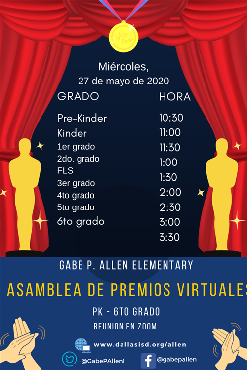Virtual Awards Assembly 2020 span
