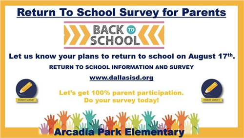 Return to School Survey for Parents