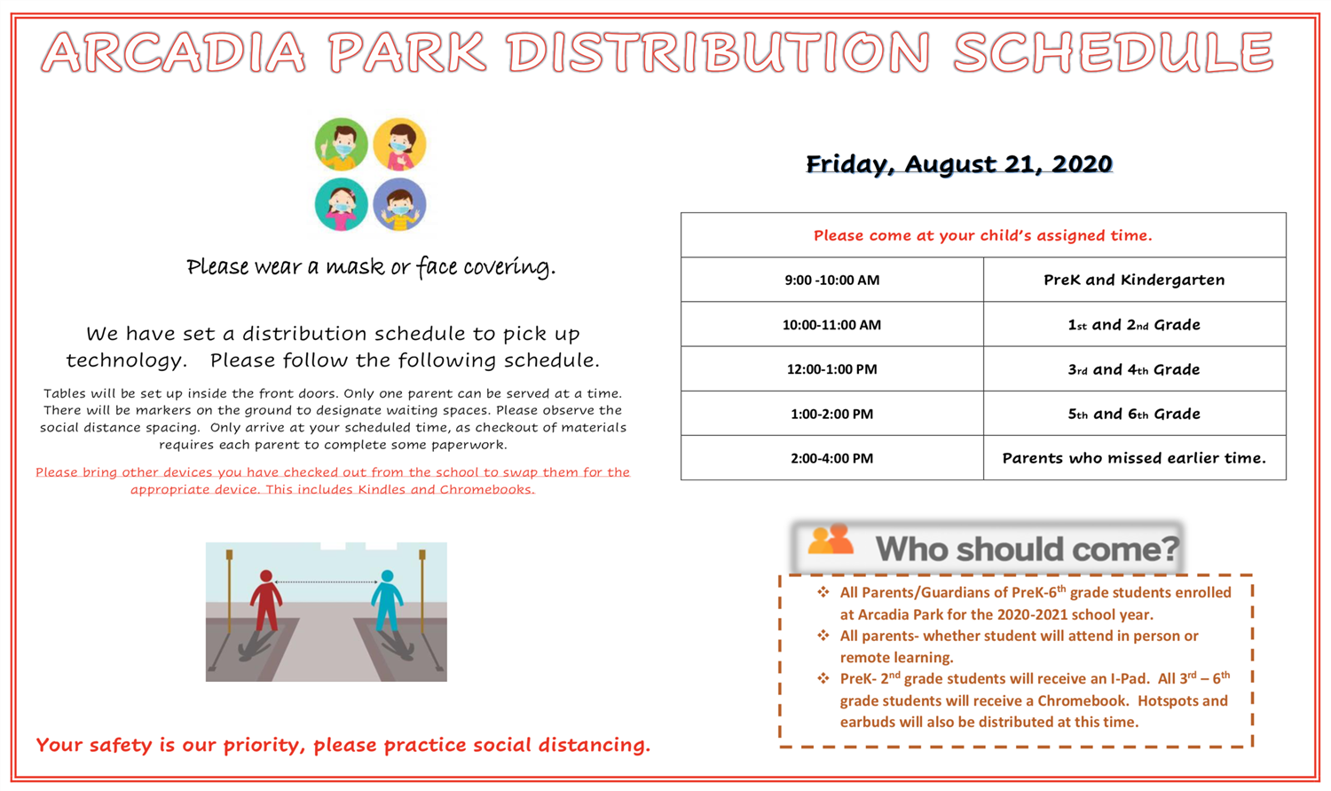 Distribution Schedule to Pick up Technology