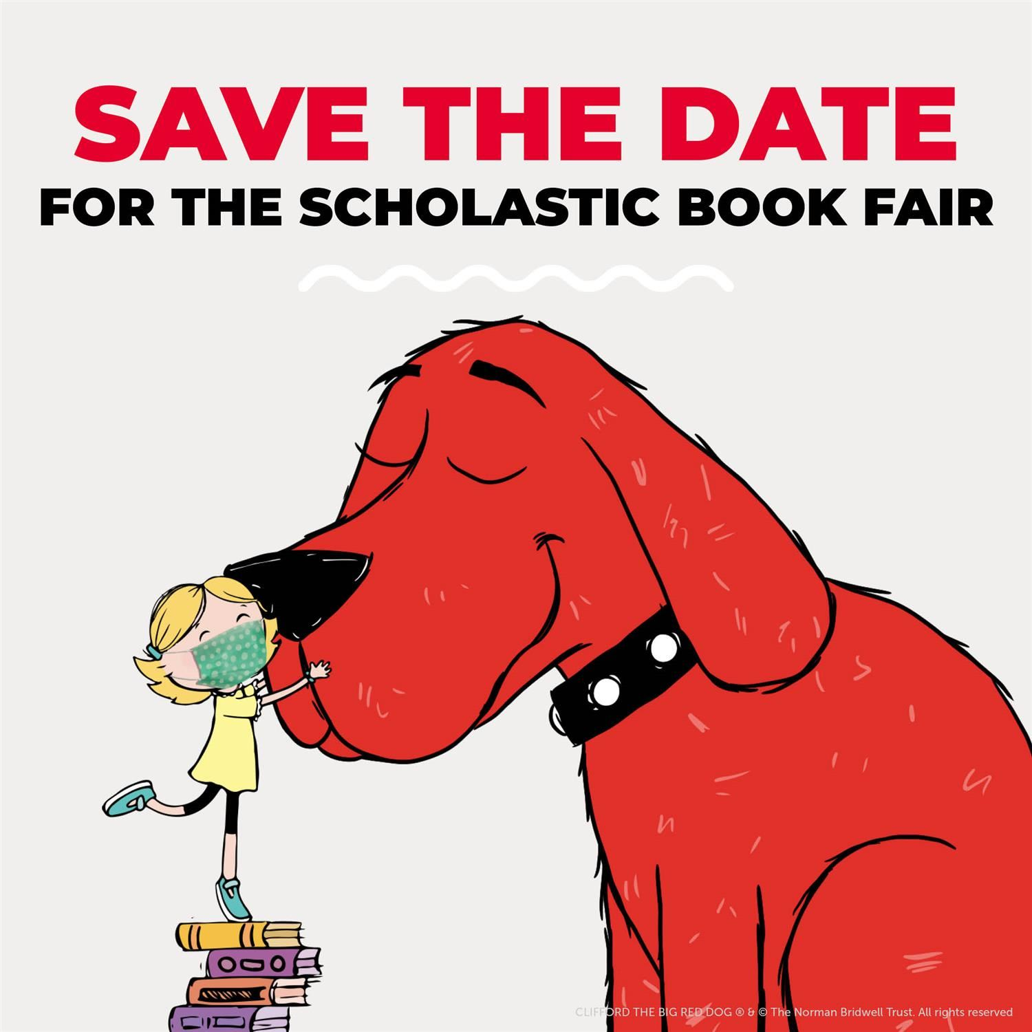 Clifford storybook character and girl