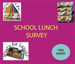 Students fill out lunch survey