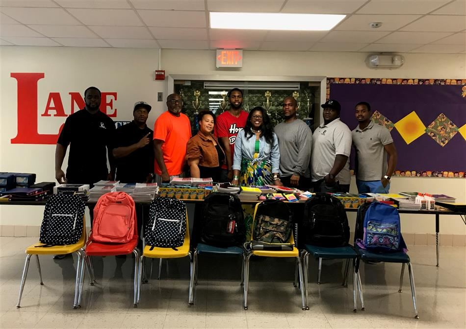 Shout out to Devon Davis and Proof Coalition for donating school supplies to our Bushman students!