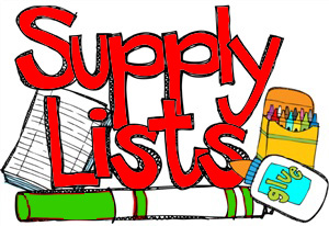2019 - 2020 School Supply Lists