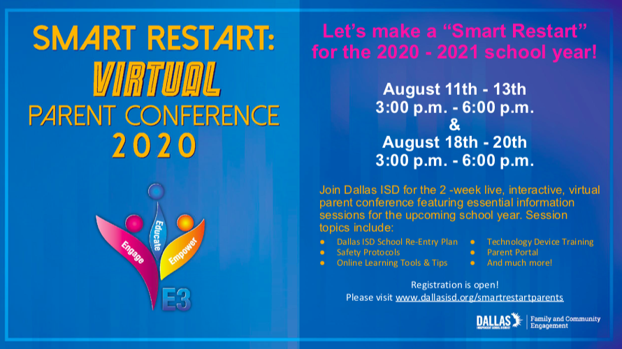 Smart Restart Virtual Parent Conference