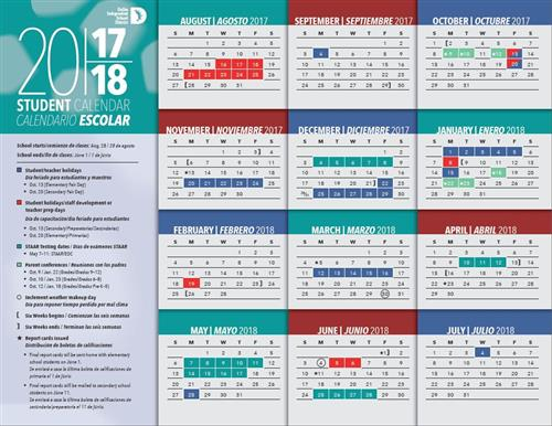 Disd School Calendar World Of Printable And Chart