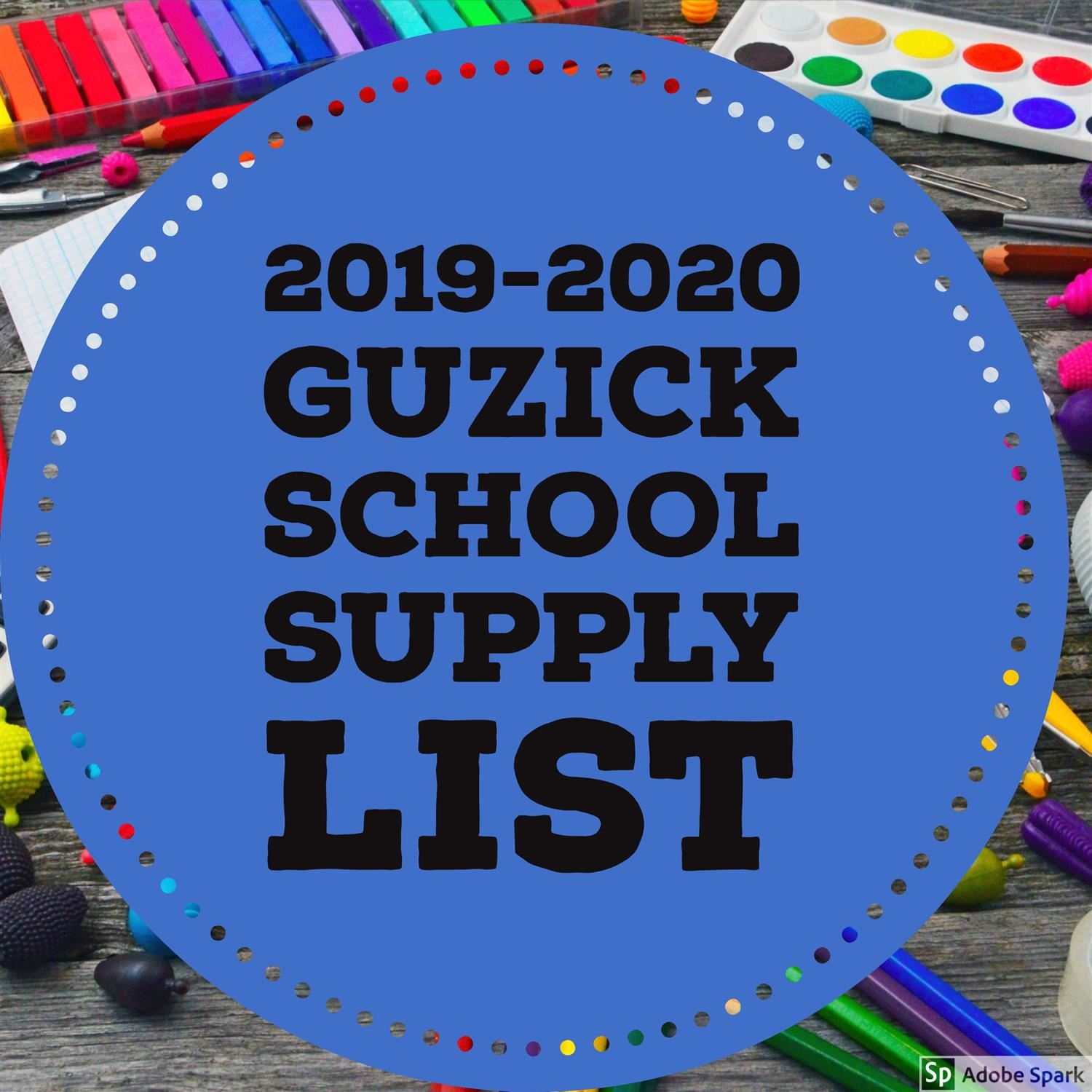 2019-2020 Guzick School Supplies