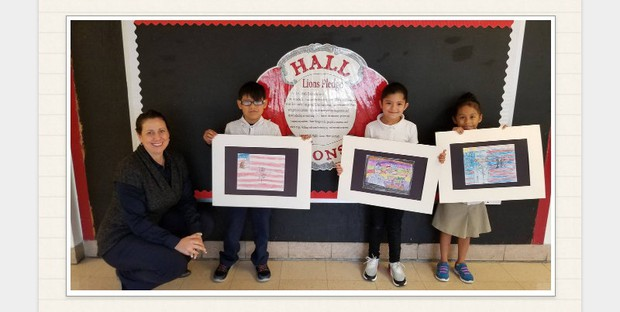 Hall Scholars win 2nd and 3rd place in district-wide 2018 Veterans Day Art Contest