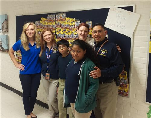 Ms. Lindsay, Anson Jones' Art Teacher Wins WFAA's Project Green Contest!